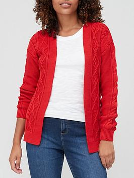 v-by-very-knitted-edge-to-edge-cable-cardigan-red