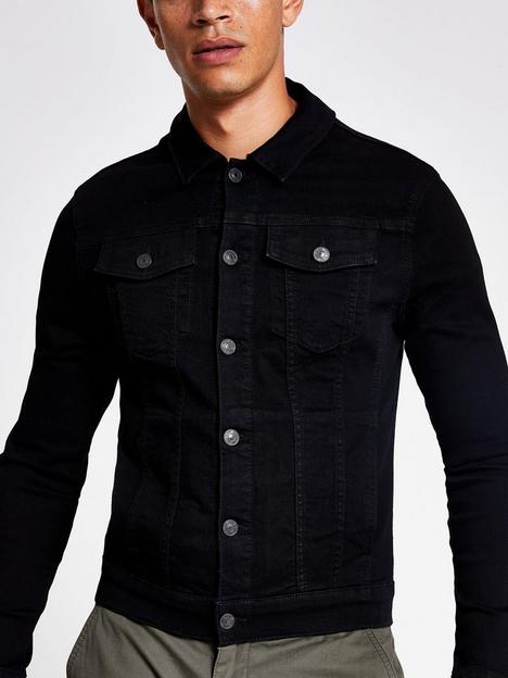 river-island-denim-muscle-fit-jacket-black