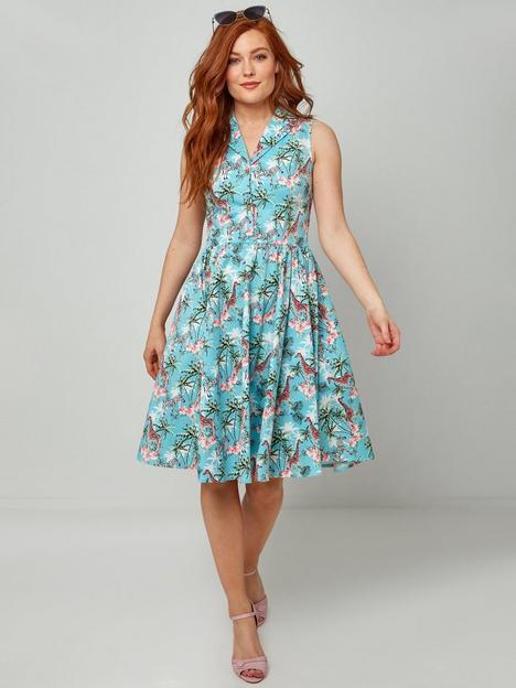 joe-browns-midi-summer-dress--blue