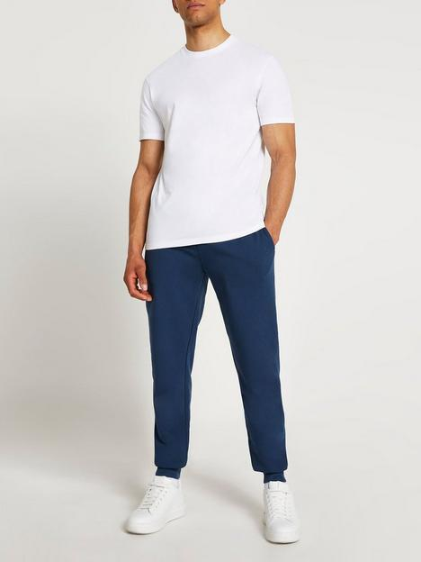 river-island-2-piece-slim-fit-t-shirt-jogger-set-whiteblue