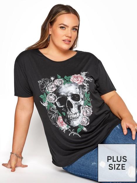 yours-yours-short-sleeve-skull-boyfriend-tee-black