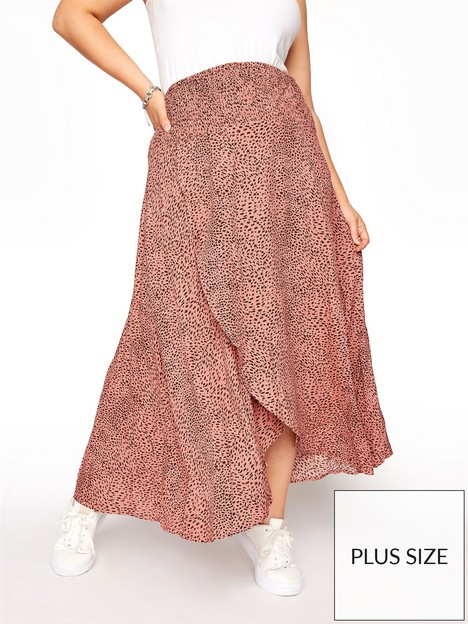yours-tulip-animal-print-skirt-pink