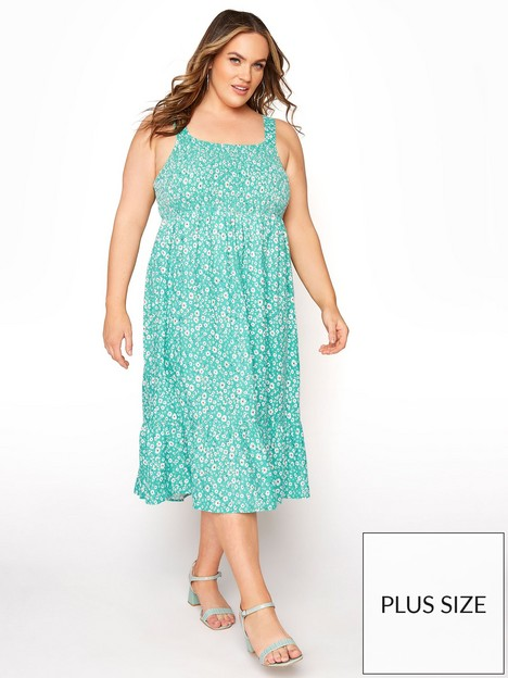 yours-yours-sleeveless-all-over-print-dress--nbspgreennbsp