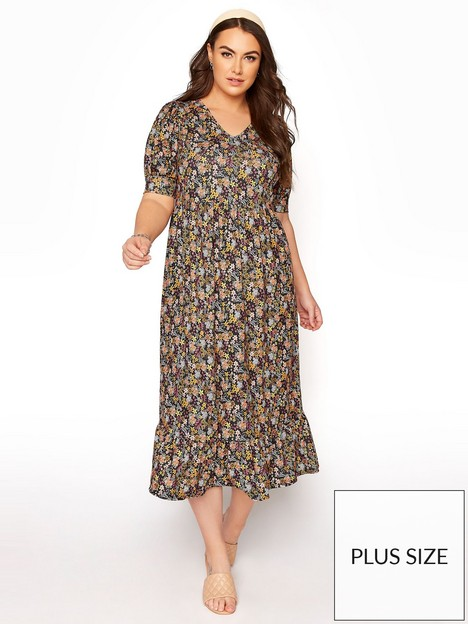 yours-tiered-smock-ditsy-floral-dress