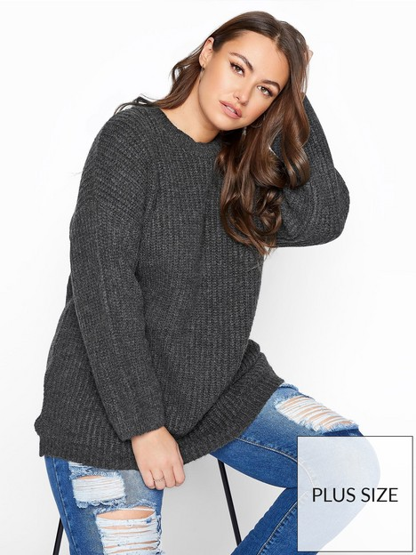 yours-yours-fluffy-wide-sleeve-jumper--nbspgrey