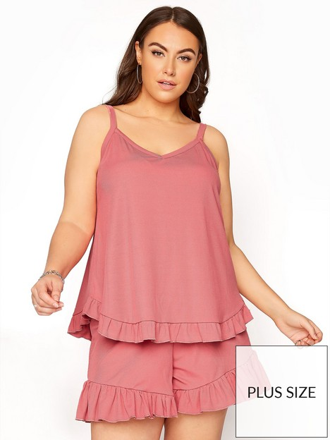 yours-pink-rib-pj-shorts