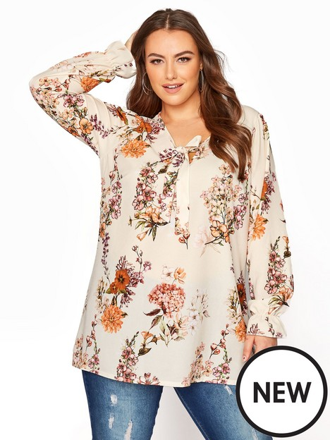 yours-autumn-floral-bow-front-blouse