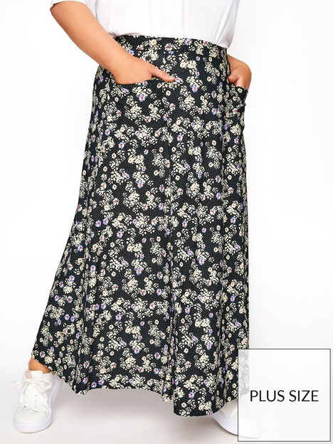yours-yours-maxi-pocket-floral-skirt-black-print