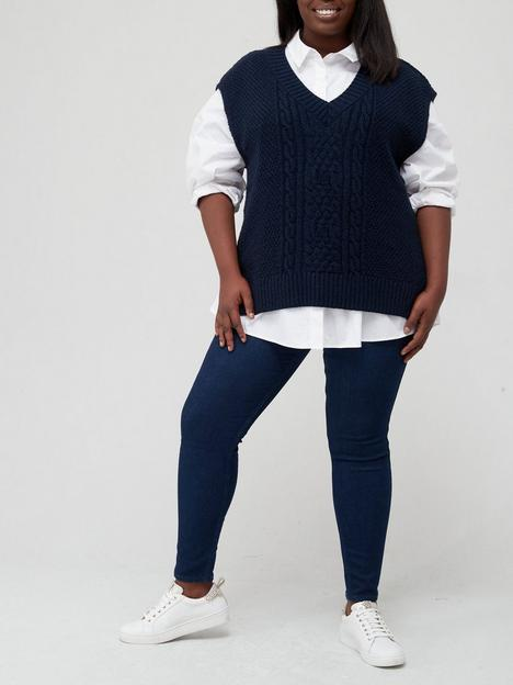 v-by-very-curve-knitted-cable-v-neck-tabard-vest-navynbsp