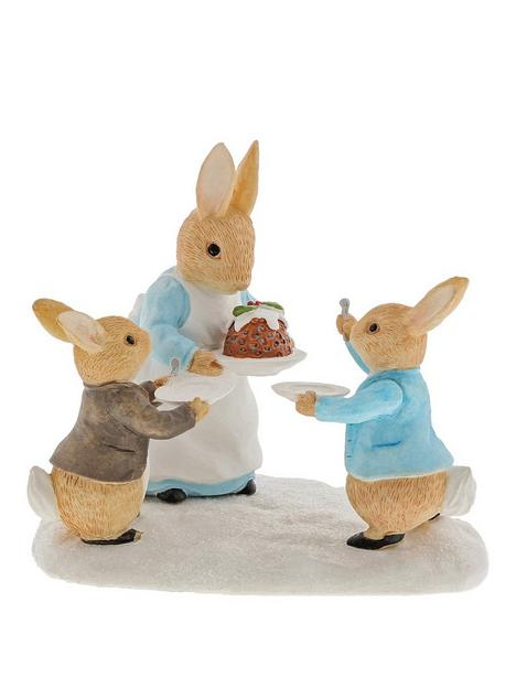 peter-rabbit-mrs-rabbit-with-a-christmas-pudding-figurine