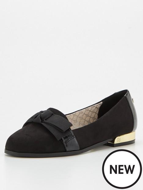 river-island-wide-fit-bow-ballerina-shoe-black