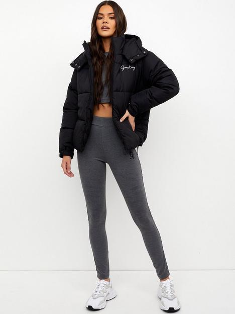 gym-king-script-padded-jacket-black