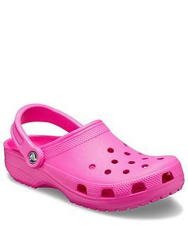 crocs-classic-clog-slip-on-flat-shoes-pink