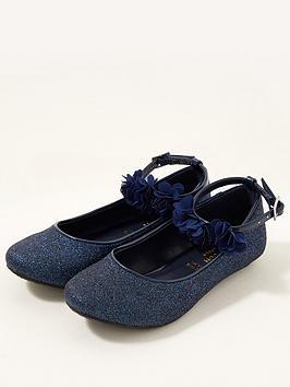 monsoon-girls-glitter-corsage-ballerina-shoes-navy