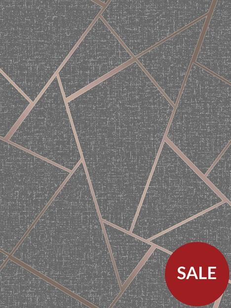 fine-dcor-fine-decor-quartz-fractal-copper-glitter-wallpaper