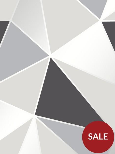 fine-dcor-fine-decor-apex-geo-black-silver-wallpaper