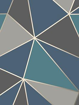 fine-dcor-fine-decor-apex-geo-aqua-navy-wallpaper