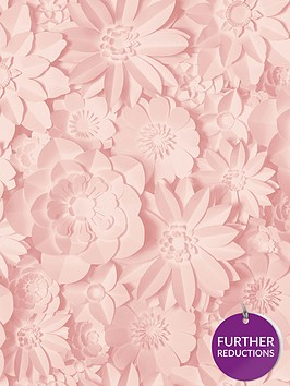 fine-dcor-fine-decor-3d-effect-floral-pink-wallpaper