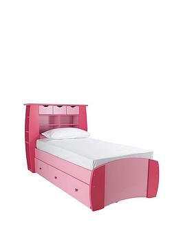 Kidspace Orlando Single Bed with Storage Shelves and