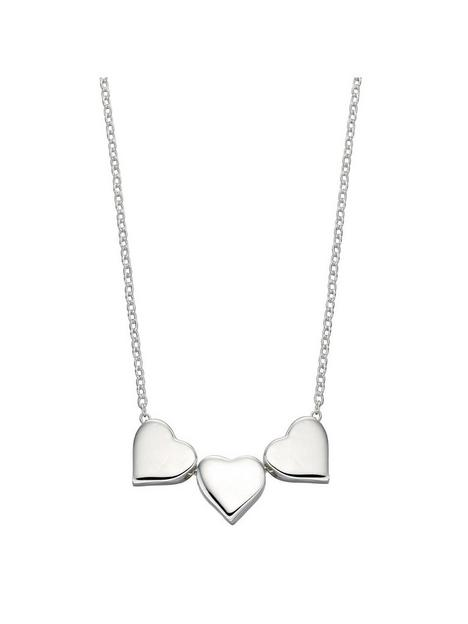 the-love-silver-collection-sterling-silver-engravable-triple-heart-necklace