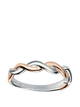 the-love-silver-collection-rose-gold-plated-and-rhodium-fixed-twist-ring