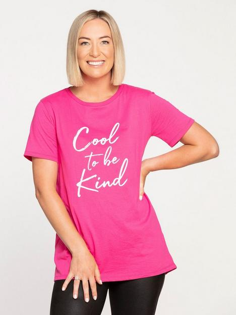 v-by-very-style-fairy-cool-to-be-kind-longline-t-shirt-pink