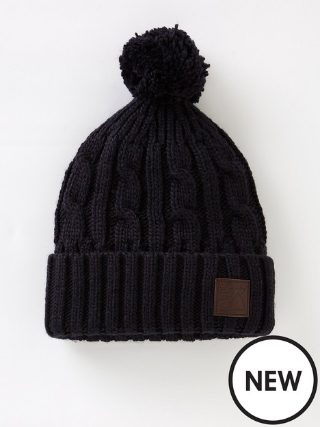 superdry-trawler-cable-beanie-navy