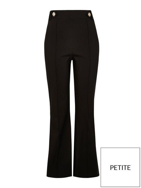 ri-petite-button-tab-bootcut-trouser-black