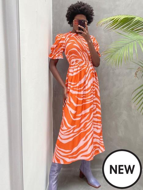 never-fully-dressed-never-fully-dressed-orange-zebra-midi-swedish-dress