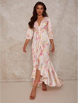 chi-chi-london-graphic-print-plunge-satin-maxi-dress-cream