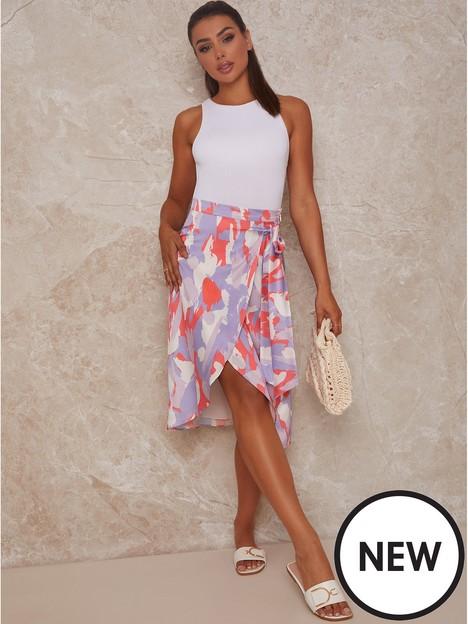 chi-chi-london-graphic-print-wrap-detail-midi-skirt-lilac