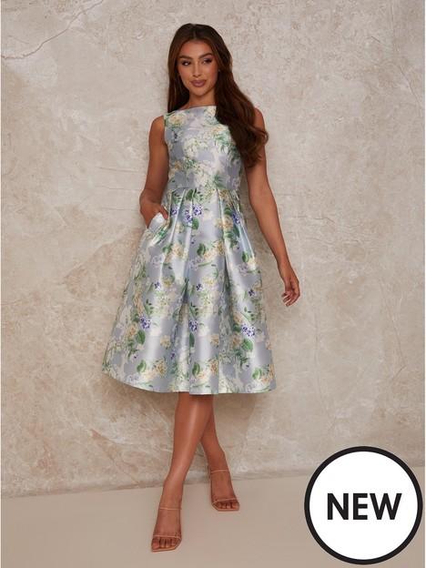 chi-chi-london-floral-print-midi-dress-blue