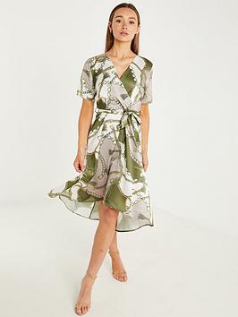 quiz-rope-and-chain-print-satin-wrap-midi-dress-khaki