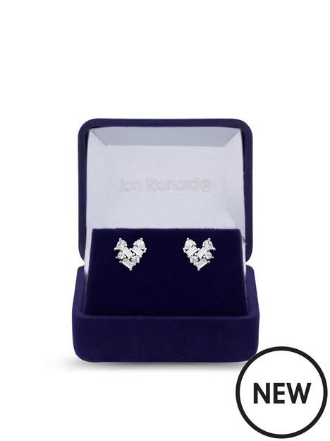 jon-richard-john-richard-rhodium-plated-cubic-zirconia-heart-stud-earrings