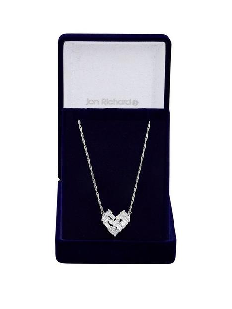 jon-richard-jon-richard-rhodium-plate-cubic-zirconia-mixed-stone-heart-pendant