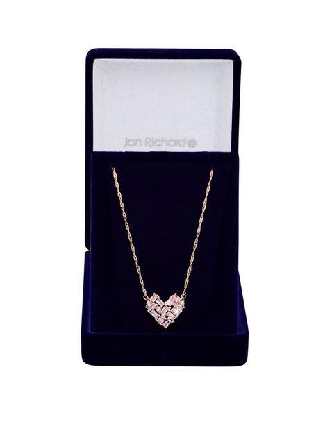 jon-richard-jon-richard-rose-gold-plate-cubic-zirconia-mixed-stone-heart-pendant