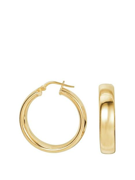 the-love-silver-collection-sterling-silver-gold-plated-chunky-hoop-creole-earrings-26mm