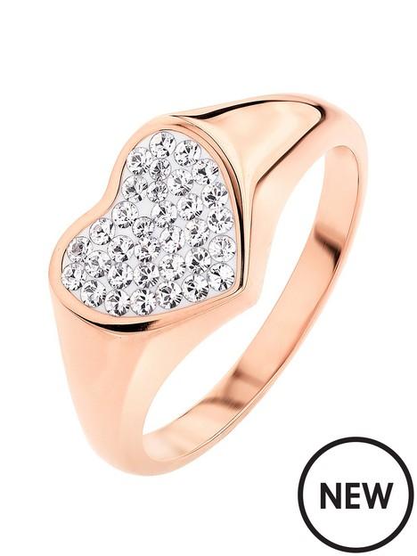 evoke-evoke-sterling-silver-rose-gold-plated-crystal-heart-signet-ring