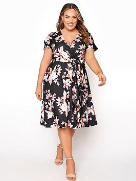 yours-clothing-floral-wrap-dress
