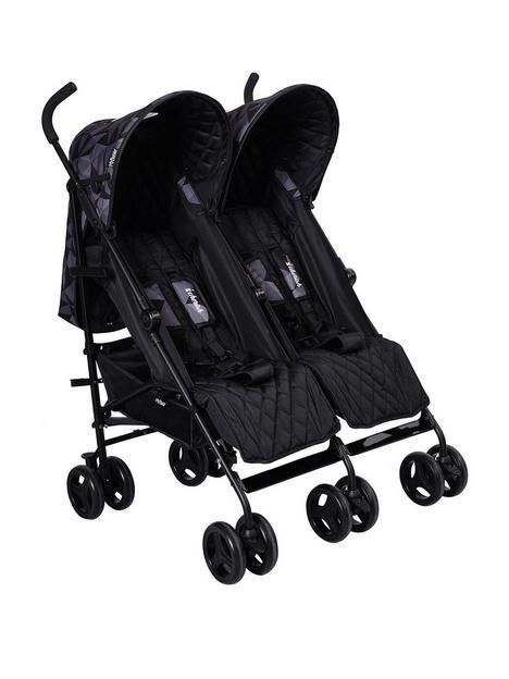 my-babiie-dani-dyer-cherish-black-geo-twin-stroller