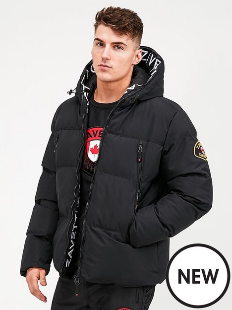 zavetti-canada-malvini-padded-jacket-black
