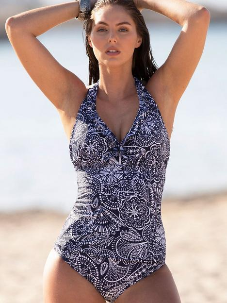 pour-moi-hot-spots-underwired-tankini-top-navy