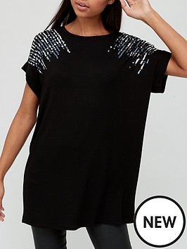 v-by-very-embellished-detail-tunic-black