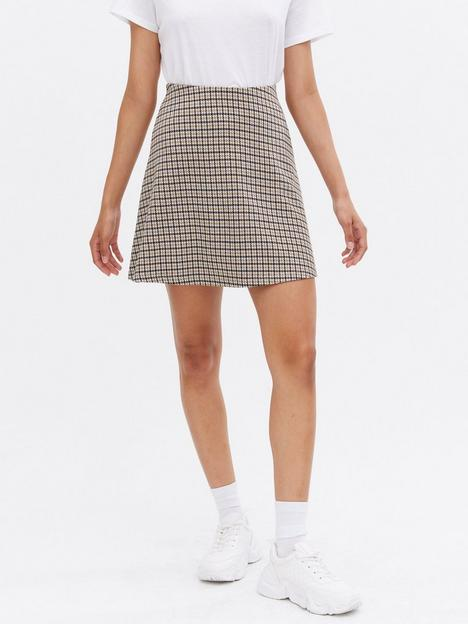 new-look-heritage-flippy-mini-skirt-brownmulti