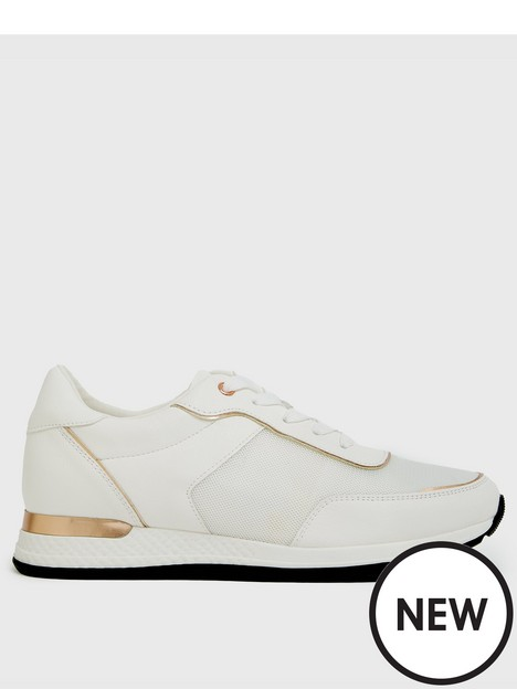 new-look-mix-materialnbspjogger-trainersnbsp-whitenbsp