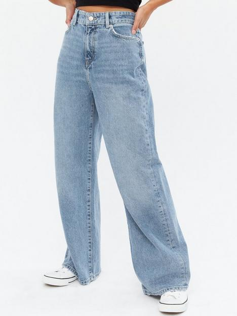new-look-petite-wide-leg-jeans-darlington