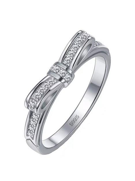the-love-silver-collection-sterling-silver-cubic-zirconia-bow-design-ring