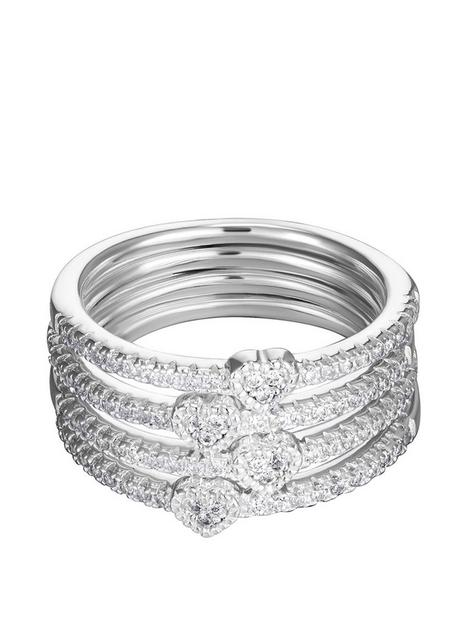 the-love-silver-collection-sterling-silver-cubic-zirconia-set-of-4-heart-stacking-rings