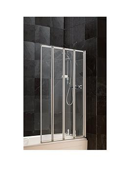 Aqualux Aqualux 4 Fold Bath / Shower Screen Picture