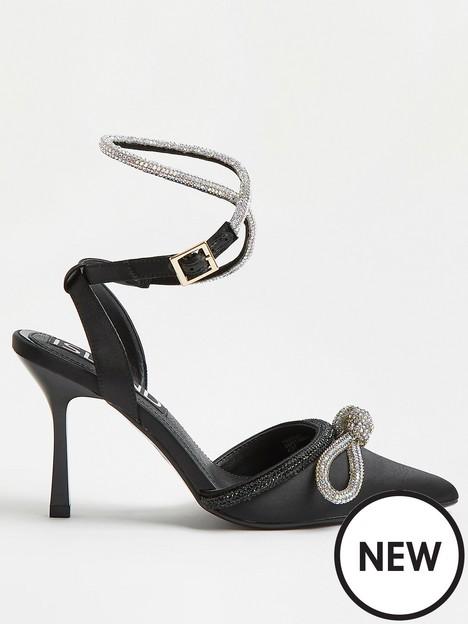 river-island-bling-bow-court-shoe-black